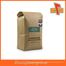 Sacs d'emballage de haute qualité fournisseur de porcelaine stand up kraft paper sacs de café personnalisés avec impression