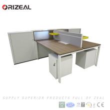 Modern open design office computer workstation desk