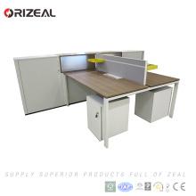 Современный открытый дизайн офисной рабочей станции рабочий стол