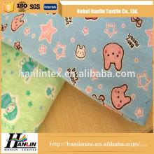 Garantia de comércio tela de flanela de algodão de impressão para roupas de bebê / tecido de flanela de tingimento sólido 100 flanela de algodão
