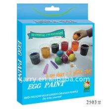 6 cores ovo de páscoa pintura