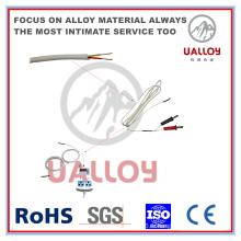 Câble de compensation de thermocouple isolé / tressé en fibre de céramique de type T