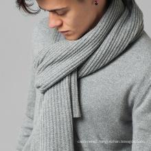 new style fashion custom cashmere yarn dyed black scarf