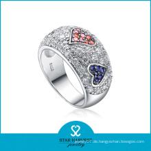 Großhandel Herz Impressum Micro Paved Silber Ring