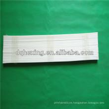 Tira de teflón de plástico virgen blanco