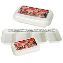 Boîte à lunch de hot pot en plastique de bonne qualité de stockage de nourriture pour la vente en gros