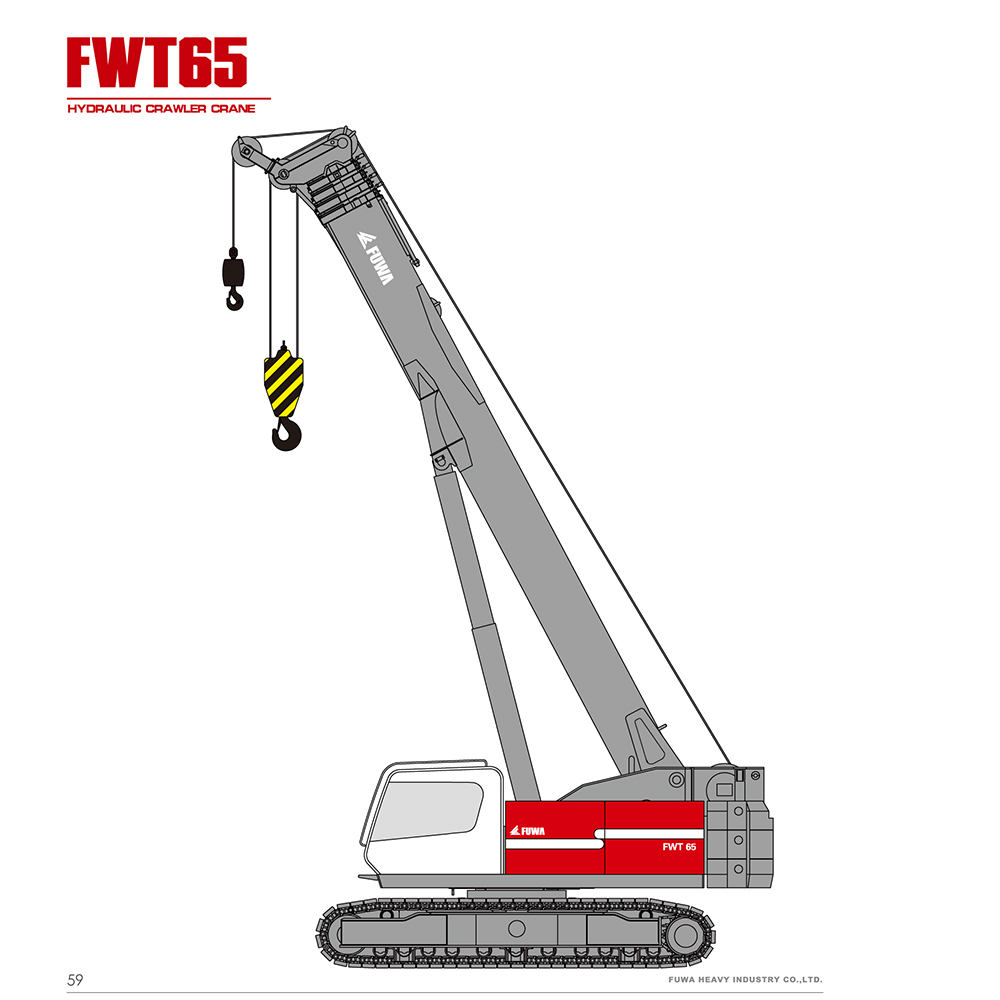 telescopic crawler crane for sale