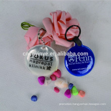 Custom fashion printed cheap pvc reflective keychain