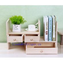Wholesale cheap Adjustable Wood Desktop Storage Organizer Display Shelf Rack, Counter Top Bookcase