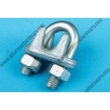 Rigging Hardware U. S. tipo cable Clip gota forjó el hierro maleable para remache
