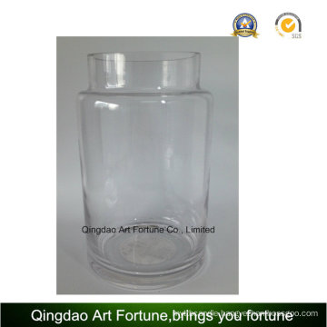 Clear Glass Hurricane Vase for Home Decor