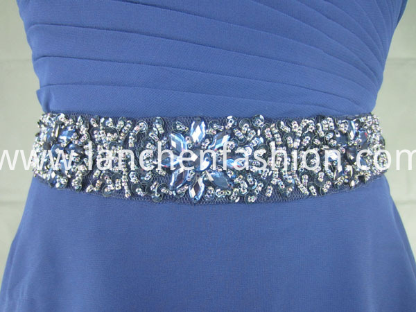 bride dress navy beads