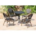 Uplion STT-005 waterproof metal black round coffee table