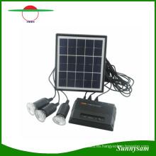 Sistema de carga solar 4W Cargador de teléfono móvil de la célula del USB 5V casero Kit Garden Pathway Paisaje que acampa pesca de la iluminación al aire libre
