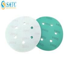 Disco de lixa de filme de fixação de gancho e argola com orifícios
