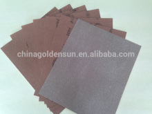 Super-soft anti-load alumina oxide coated sanding sheet for furniture paint, synthetic and plastic material sanding & polishing