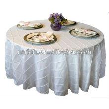 2015 caliente venta bodas baratas y elegantes manteles, tafetán del Pintuck manteles para bodas