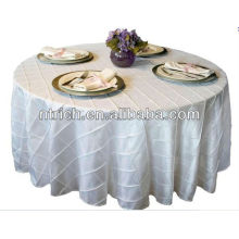 2015 Hot Sale Cheap and Elegant Wedding Table Cloth,Taffeta Pintuck Table Cloths for Weddings