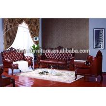 Sofá clásico de la sala de estar en cuero A683