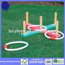 Jogo de jardim jogo de anel de madeira jogo
