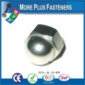 Made in Taiwan Stainless Steel Nickel Brass Hexagon Domed Cap Nut Fin Thread