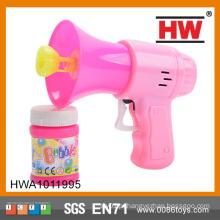 Alta qualidade 14CM fricção bolha chifre brinquedo sabão bolha água arma