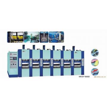 6 estações Máquina de moldagem por injeção de sapato EVA