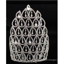 Preciosa corona de cuentas de cristal de la boda