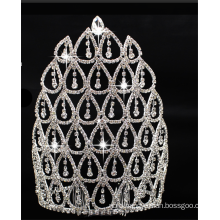 Gorgeous Wedding Party Crystal Beaded Crown Bling