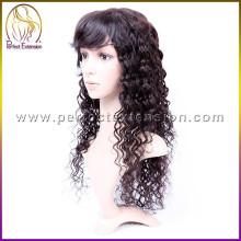 peluca afroamericana del pelo humano libre del enredo real peluca de las mujeres toupee