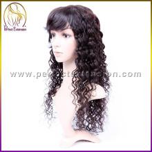 peruca de cabelo humano livre do emaranhado real africano peruca das mulheres