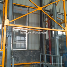 Professional lift platform supplier CE Portable Hydraulic Warehouse Cargo Lift Vertical Guide Rail Cargo Lift