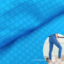 fashion jacquard elastic nylon 81 spandex 19 check textured thick leggings fabric