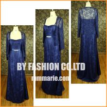 Elegant blue large size women dress formal wedding dress for mother dress factory price