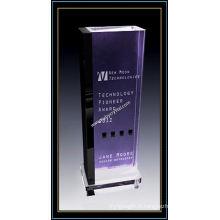 """Plaques 11 """"H pour le prix du bâtiment en cristal violet"""" (NU-CW704)"""