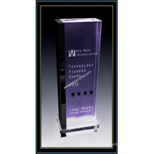 "Purple Crystal Building Award Plaques 11"" H (NU-CW704)"