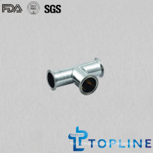Sanitary Stainless Steel Tee with Tri Clamp Ends