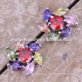 estrella de la flor pendientes del perno prisionero de plata joyería del latón del zirconio La joyería plateada del rodio es su buena selección