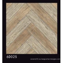 600X600mm de madera de diseño de azulejos de porcelana pulida