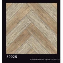 Деревянная Конструкция 600x600mm Отполированная плитка фарфора