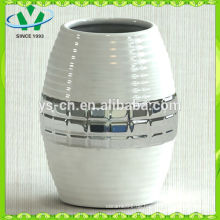 Electroplate Modern Style Silber Keramik Vase Für Wohnkultur