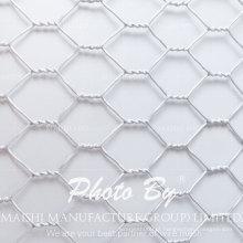 Rede de arame sextavada galvanizada / PVC