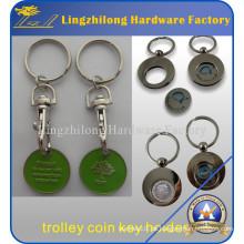 Werbe Drehbare Günstige Trolley Münze Schlüsselanhänger