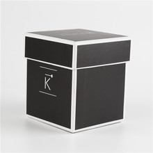 Printed Black Cardboard Paper Jewelry Gift Box