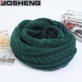 Green Unisex Winter Thick Warm Knitted Circle Echarpe à l'infini