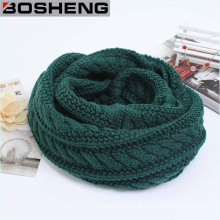 Green Unisex Winter Thick Warm Knitted Circle Infinity Scarf