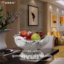 Peacock em forma de casa de resina eco-friendly de alta qualidade de decoração de tigela de frutas decorativas