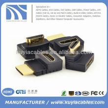 HDMI hembra a macho F / M adaptador de 90 grados adaptador acoplador alargador