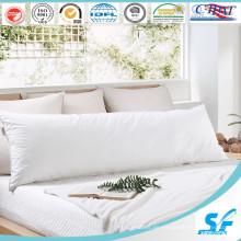 White Plain Cotton Daunen und Feather Long Pillow