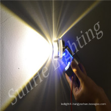 Led RGB touchable switch dimmable home motor led wall light